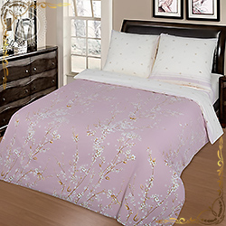 Комплект постельного белья поплин Сакура на резинке