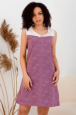 Сорочка женская с комбинированной кокеткой 24405