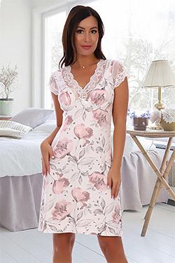 Сорочка вискозная женская с кружевом 2528