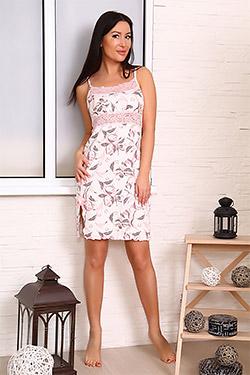 Сорочка вискозная с кружевной кокеткой 25705