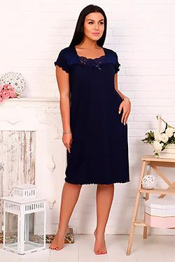 Сорочка вискозная с кружевной кокеткой 25721