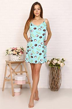 Сорочка трикотажная с принтом авокадо 3359
