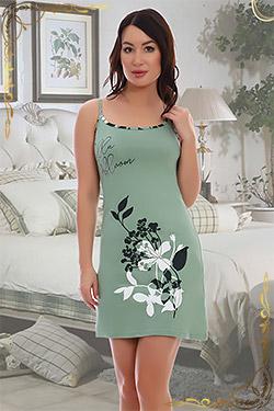 Сорочка женская на тонких бретельках 5540