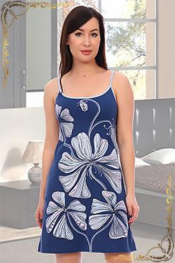 Ночная сорочка женская трикотажная с печатью 5575