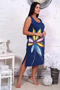 Сорочка женская с ярким принтом 5623