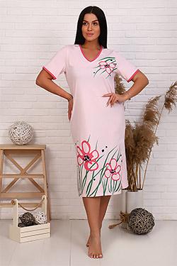 Сорочка длинная с крупным принтом 6184
