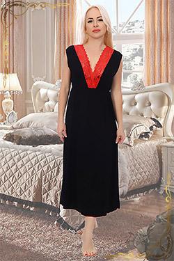 Сорочка вискозная больших размеров с кружевом 6364