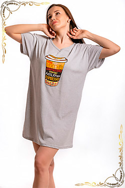 Ночная сорочка в виде удлиненной футболки с принтом Калгари
