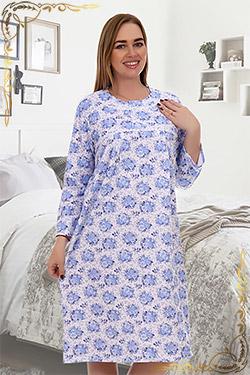 Ночная сорочка больших размеров из футера Камбрия