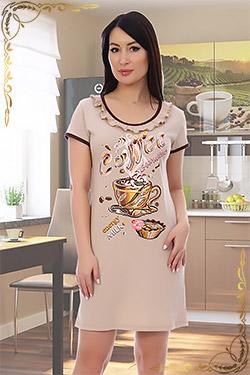 Ночная сорочка больших размеров Кофе