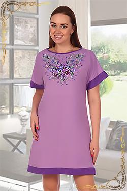 Ночная сорочка с цельнокроенным рукавом Малиновка