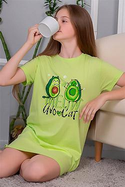 Сорочка ночная трикотажная на девочку Мурашки