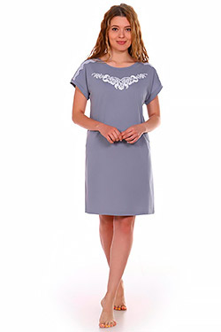 Сорочка трикотажная с принтом Ривьера