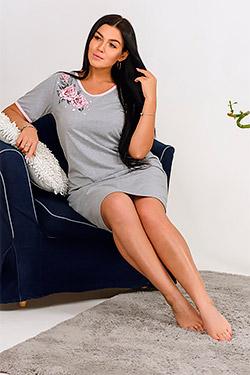 Сорочка женская с принтом розы Сайрес