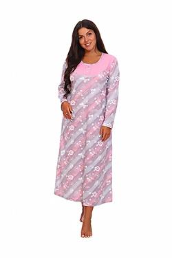 Сорочка женская длинная на пуговицах Услада