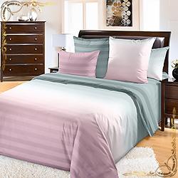 Постельное белье перкаль Туманное утро 1 розовый