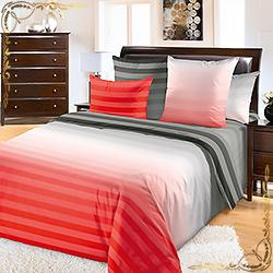 Комплект постельного белья Туманное утро 10 красный из перкаля