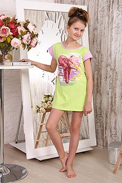 Туника на девочку с двойным рукавом 14542