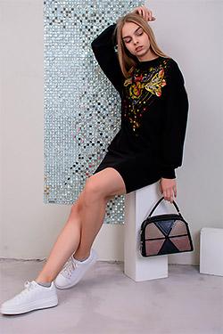 Туника женская с оригинальным орнаментом 21506