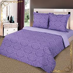 Комплект постельного белья поплин Византия  фиолетовый  на резинке