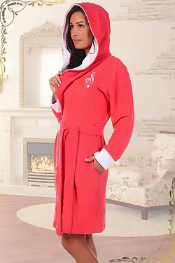 Махровый женсикй халат Фария