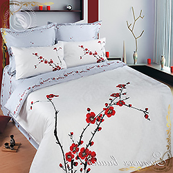 Зимняя вишня ПМ постельное белье из сатина