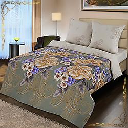 Комплект постельного белья поплин Золотая вышивка на резинке